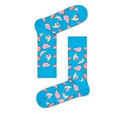 Modré ponožky Happy Socks s ružovými banánmi, vzor Banana
