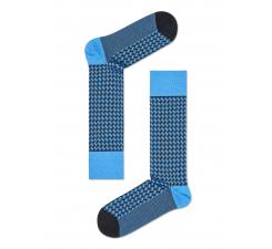Modro-čierne ponožky Happy Socks, vzor Basket Weave // kolekcia Dressed