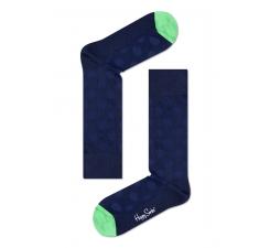 Modré ponožky Happy Socks s puntíky, vzor Structure Big Dot // kolekce Dressed