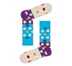 Tyrkysovo-béžové ponožky Happy Socks s farebnými bodkami, vzor Big Dot Block