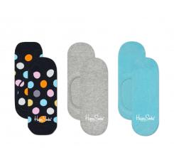 Nízke ponožky Happy Socks, vzor Big Dot čierne - tri páry