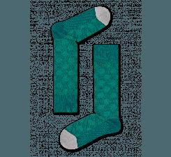 Zelené ponožky Happy Socks, vzor Big Dot // kolekcia Dressed