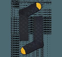 Šedé ponožky Happy Socks s puntíky, vzor Big Dot // kolekce Dressed