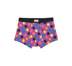 Fialové boxerky Happy Socks s farebnými bodkami, vzor Big Dot
