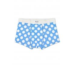 Svetlo modré boxerky Happy Socks s bielymi bodkami, vzor Big Dot