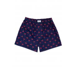 Modré trenírky Happy Socks s červenými čerešničkami, vzor Cherry