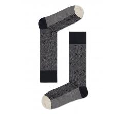 Sivé ponožky Happy Socks, vzor Circuit // kolekcia Dressed