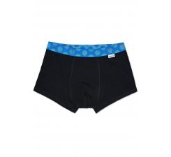 Černé Solid boxerky Happy Socks s modrými puntíky