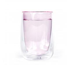 Ružový termo pohár Fundamental Berlin Doppler Glass