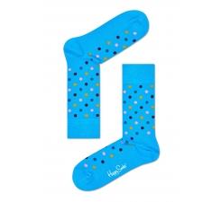 Tyrkysové ponožky Happy Socks s farebnými bodkami, vzor Dot