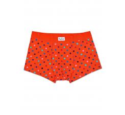 Oranžové boxerky Happy Socks s farebnými bodkami, vzor Dot