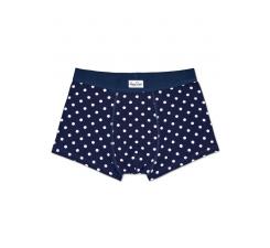 Modré boxerky Happy Socks s bielymi bodkami, vzor Dot