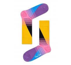 Farebné (žlté) ponožky Happy Socks so vzorom Eighties