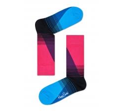 Farebné (ružové) Happy Socks so vzorom Eighties