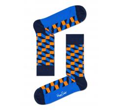 Modro-oranžové ponožky Happy Socks so vzorom Filled Optic - 2008 // 10 YEARS ANNIVERSARY