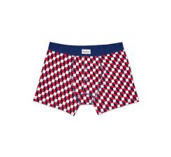 Farebné dlhšie boxerky s gombíkmi Happy Socks so vzorom Filled Optic