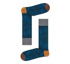 Modré ponožky Happy Socks, vzor Ginko // kolekcia Dressed