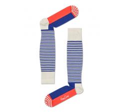 Farebné pruhované kompresné podkolienky Happy Socks, vzor Half Stripe