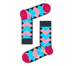 Farebné ponožky Happy Socks s károvným vzorem Argyle X Iris Apfel