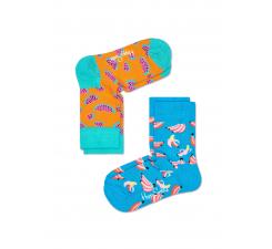 Detské farebné ponožky Happy Socks, dva páry – vzory Banana a Watermelon