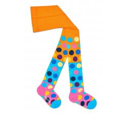 Detské farebné pančuchy Happy Socks s bodkami, vzor Big Dot Block