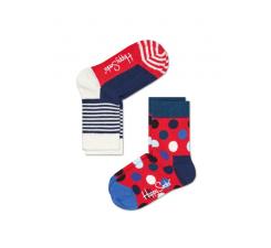 Detské farebné ponožky Happy Socks, dva páry – Half Stripe a Big Dot