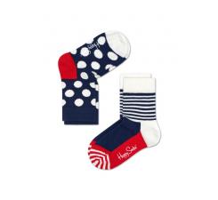 Detské farebné ponožky Happy Socks, dva páry - Half Stripe a Big Dot