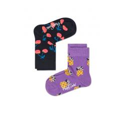 Detské farebné ponožky Happy Socks, dva páry - Pineapple a Cherry