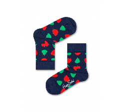 Detské modré ponožky Happy Socks s farebným ovocím, vzor Fruit