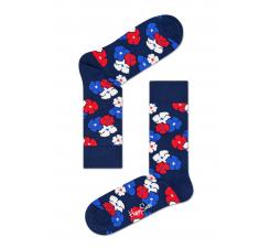 Modré ponožky Happy Socks s farebným vzorom Kimono