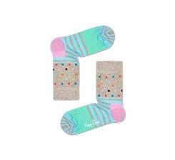 Detské běžové ponožky Happy Socks s farebným vzorom Stripe Dot