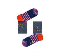 Detské sivé ponožky Happy Socks s farebným vzorom Stripe Dot