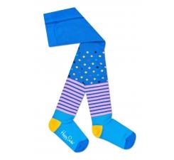 Detské modré pančuchy Happy Socks, vzor Stripe Dot