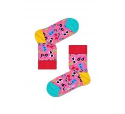 Detské ružové pohožky Happy Socks s farebnými okuliarmi, vzor Shades