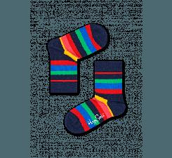 Detské farebné ponožky Happy Socks s pruhy, vzor Stripe