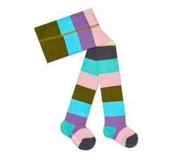 Detské farebné pančuchy Happy Socks, vzor Stripes