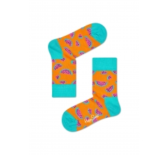 Detské oranžové ponožky Happy Socks s melónmi, vzor Watermelon