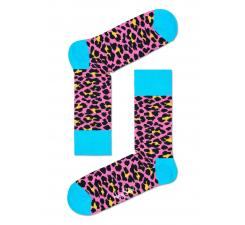Ružové ponožky Happy Socks s farebným vzorom Leopard