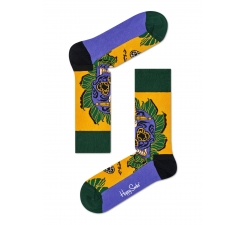 Žlté ponožky Happy Socks s farebným vzorom Sword Skull x Megan Massacre