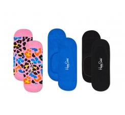 Nízke vykrojené ponožky Happy Socks, vzor Multi Leo - tri páry