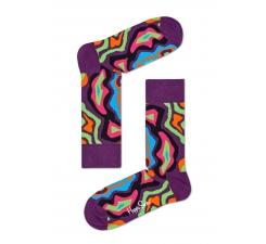 Farebné (fialové) ponožky Happy Socks so vzorom MRI