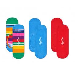 Nízke ponožky Happy Socks, vzor Multi Stripe (modro-červené) - tri páry
