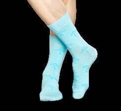 Svetlo modré ponožky Happy Socks se vzorom Umbrella