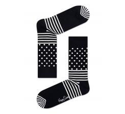 Černobiele ponožky Happy Socks se vzorom Stripe Dot