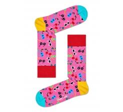 Ružové ponožky Happy Socks s farebnými okuliarmi, vzor Shades
