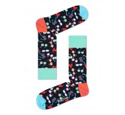 Čierne ponožky Happy Socks s farebnými okuliarmi, vzor Shades