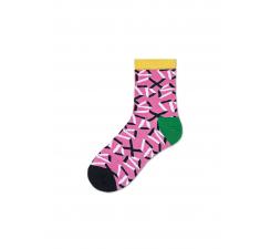 Dámske ružové ponožky Happy Socks Adela // kolekcia Hysteria