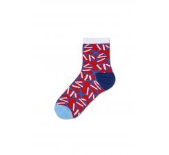 Dámske červené ponožky Happy Socks Adela // kolekcia Hysteria