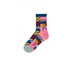 Dámske ružové ponožky Happy Socks Emma // kolekcia Hysteria