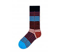 Dámske farebné (modré) ponožky Happy Socks Ellinor // kolekcia Hysteria